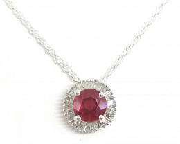 Ruby and Diamond Necklace 1.30tcw.