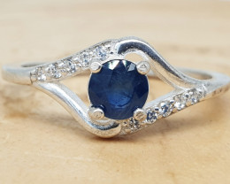 Blue Sapphire Ring | Women Ring | 925 Silver Ring | Natural Sapphire Ring