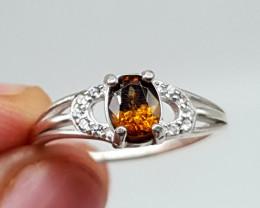 Natural Sphene Ring | Women Ring | 925 Silver Ring | Natural Sphene Ring