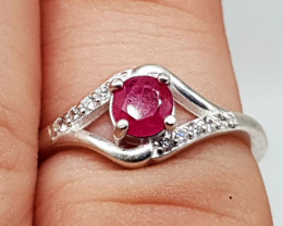 Red Ruby Ring | Women Ring | 925 Silver Ring | Natural Ruby Ring