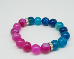 Natural Agate Bracelet 200.00 Carats 12mm