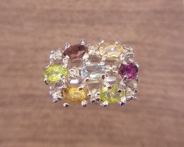 Beautiful Natural Multi Color's Stones Ring
