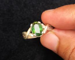 18.60 Ct Natural Dark Green Transparent Tourmaline Gemstone Ring