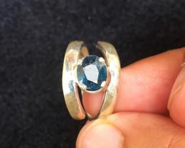 26.10 Ct Natural Dark Blue Transparent Tourmaline Gemstone Ring