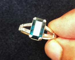 21.45 Ct Natural Blueish Transparent Tourmaline Gemstone Ring