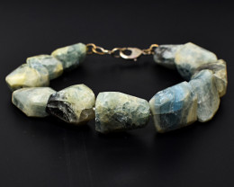 Genuine 358.00 Cts Amazonite Faceted Beads Bracelet
