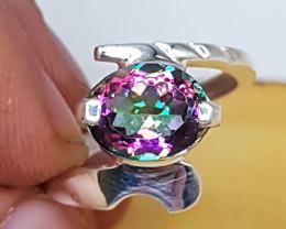 Mystic Quartz Ring 925 Silver