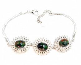 Natural Black Opal Bracelet