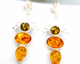 Natural Amber Earrings