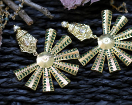 Unique and Custom Curated Hand Made Earrings  RT-90