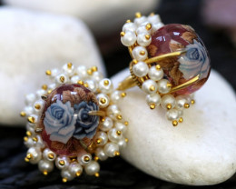 Unique and Custom Curated Hand Made Earrings  RT-92