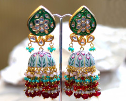 Unique and Custom Curated Hand Made Earrings  RT-93