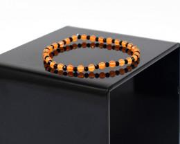 Genuine 22.00 Cts Carnelian & Spinel Stretchable Beads Bracelet