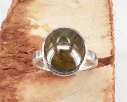 Handmade Natural Sphene cab Ring