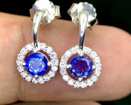 No Reserve~Dazzling~Tanzanite~Earrings~12.9