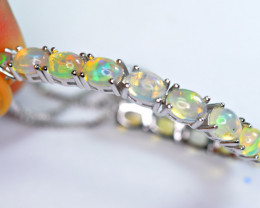 Natural 14 Pieces AAA Multi Fire 925 Silver Amazing Bracelet