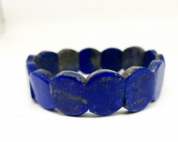 Blue Lapis Lazuli Bracelet 166.00 Carats