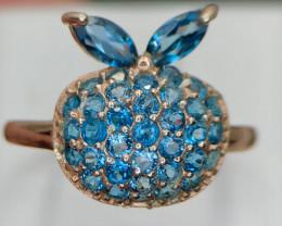 Gorgeous~London Blue Topaz~Ring