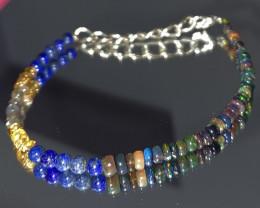 19.65 Crt Natural Smoked Opal, Lapis, Citrine & Labradorite Bracelet 386