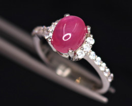 Gorgeous Natural Ruby, CZ & 925 Fancy Sterling Silver