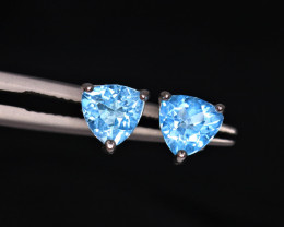 Attractive Natural Topaz & 925 Fancy Sterling Silver
