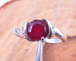 Glass filled Ruby Gorgeous Ring