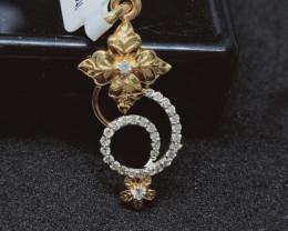 11.00 cts , Natural Sparkling white Diamond pendant , Designer Pendant