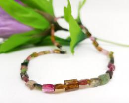 Natural Faceted Mix Color Tourmaline Bracelet 25.80 Carats