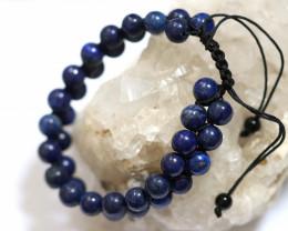 Dual 8mm lapis lazuli bracelet code AHA 1568
