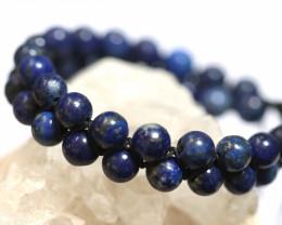 Dual 8mm lapis lazuli bracelet code AHA 1569