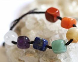 7 stylish Square  Stone  Chakra Bracelet code AHA  1572