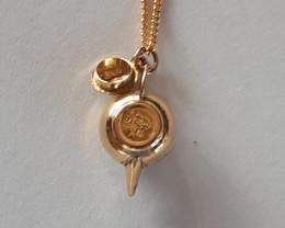 TEA POT 9K Gold Pendant  Code 1910014_2