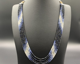 Extraordinary Natural Blue Shaded Sapphire Necklace.