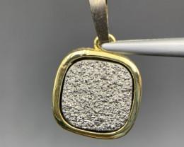 Beautiful Stunning Druzy Aura Pendant. Ar-2120