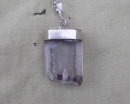 Natural Kunzite 925 Silver Pendant
