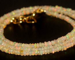 17.65 Crts Natural Ethiopian Welo Opal Beads Necklace 797