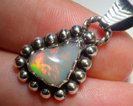 15.12ct Natural Ethiopian Welo Opal .925 Sterling Silver