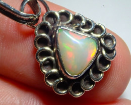 15.32ct Natural Ethiopian Welo Opal .925 Sterling Silver