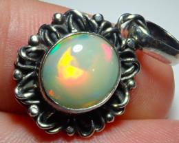 16ct Natural Ethiopian Welo Opal .925 Sterling Silver
