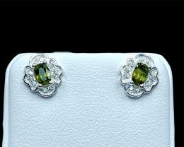 0.47ct.Stunning Natural Sphene Silver925 Earring.DSN407