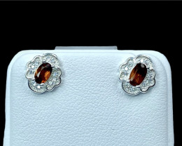 0.76ct.Exquisite Natural Bastnasite Silver925 Earring.DBT408