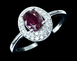 1.01ct.Gorgeous Natural Ruby Mozambique Silver925 Ring.DRB420