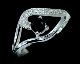 Magnificent Natural Blue Sapphire Gemstone Silver925 Ring.DBS427