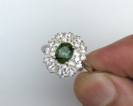 22.12 carats Tourmaline Ring 925 Silver