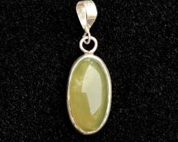 17.20 carat Idocrase Solar Cab 925 Silver pendant
