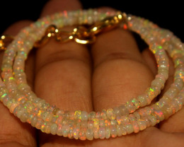 22.55 Crts Natural Ethiopian Welo Opal Beads Necklace 740