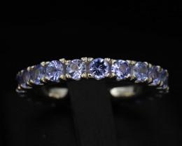 AAA Beautiful Natural Tanzanite Silver Ring Unique Design