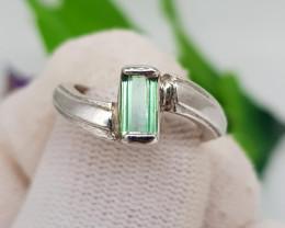 Natural Tourmaline 10.60 Carats Hand Made Ring