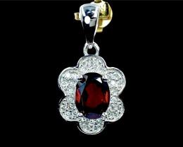 1.62ct.Gorgeous Rhodolite Garnet Gemstone Silver925 Pendant.DRG376