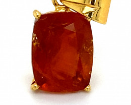 Clinohumite 6.75ct Solid 18K Yellow Gold Pendant